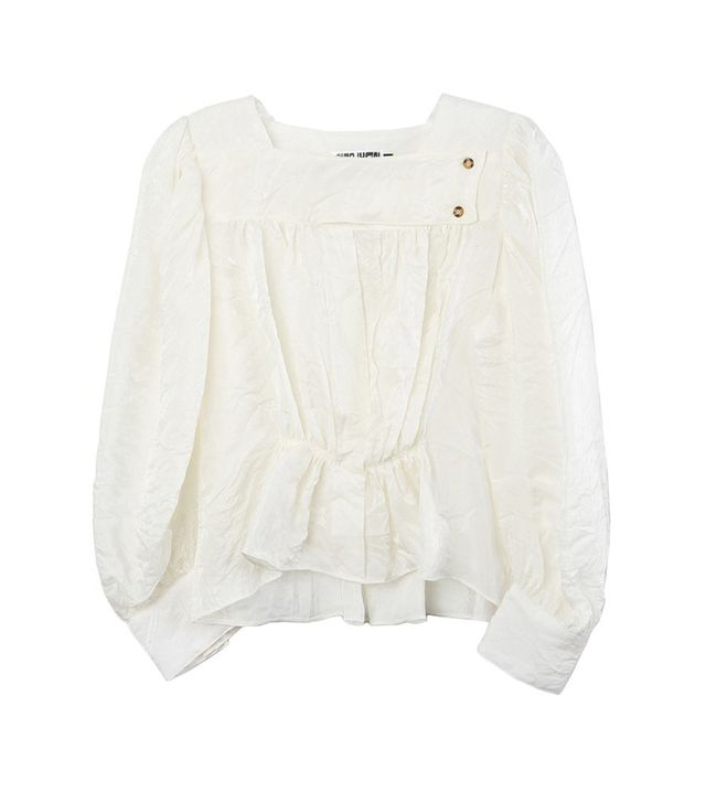 Ciao Lucia Allega Top in Ivory Crinkle