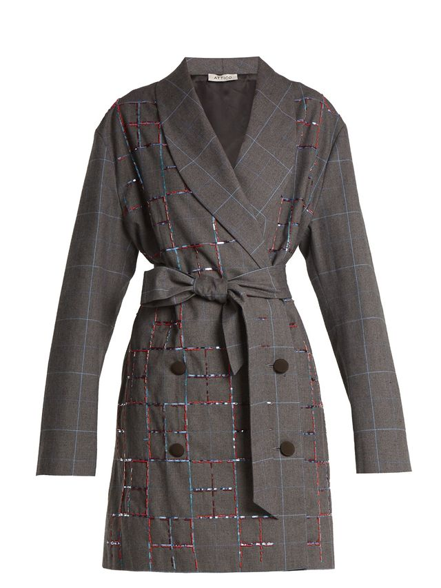 Checked blazer dress