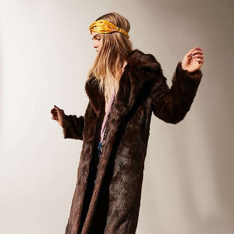 Maple Long Faux-Fur Coat