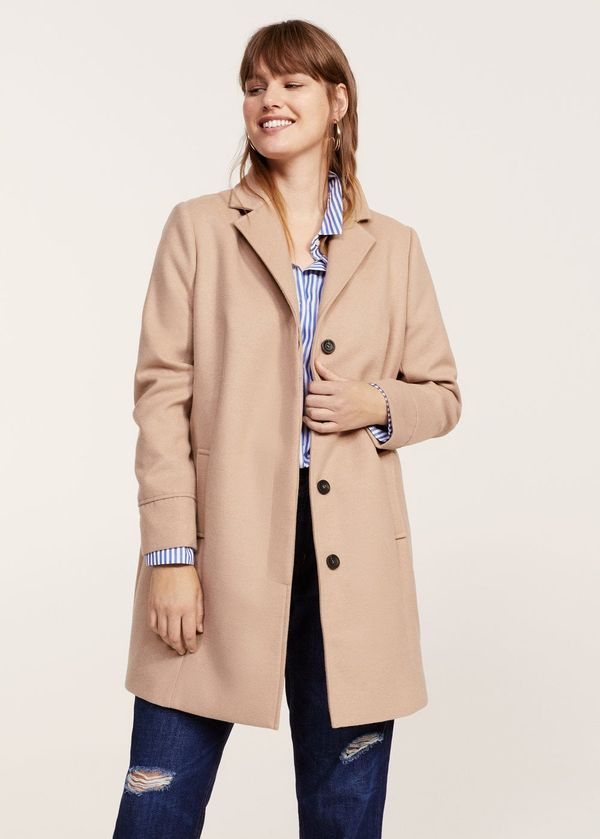 Lapels structured coat