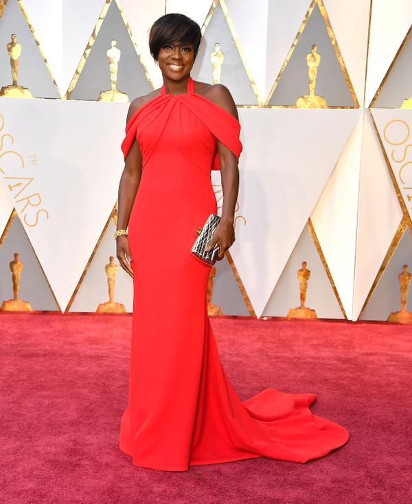 Who: Viola Davis What: The2017 Oscars Wear:Armani