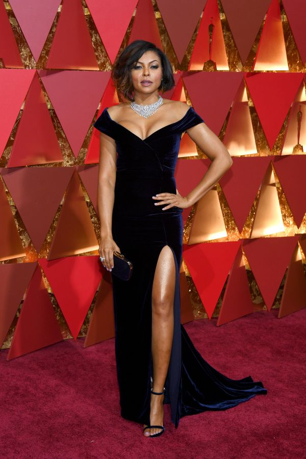 Who:Taraji P. Henson What: The2017 Oscars Wear:Alberta Ferretti