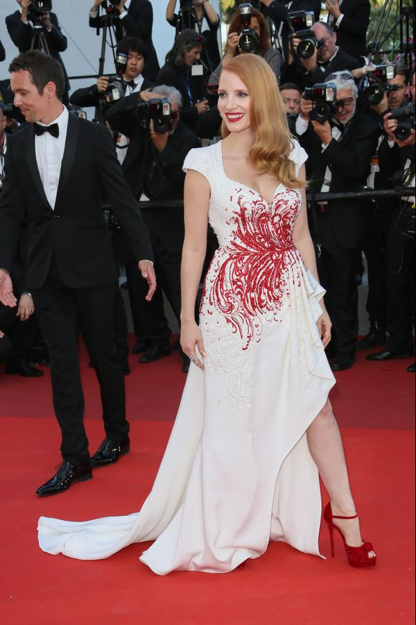 Who: Jessica Chastain What: The 2017 Cannes Film Festival Wear: Zuhair Murad