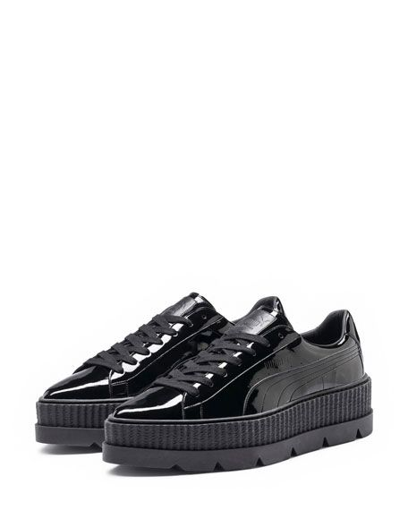 Patent Platform Creeper Sneaker