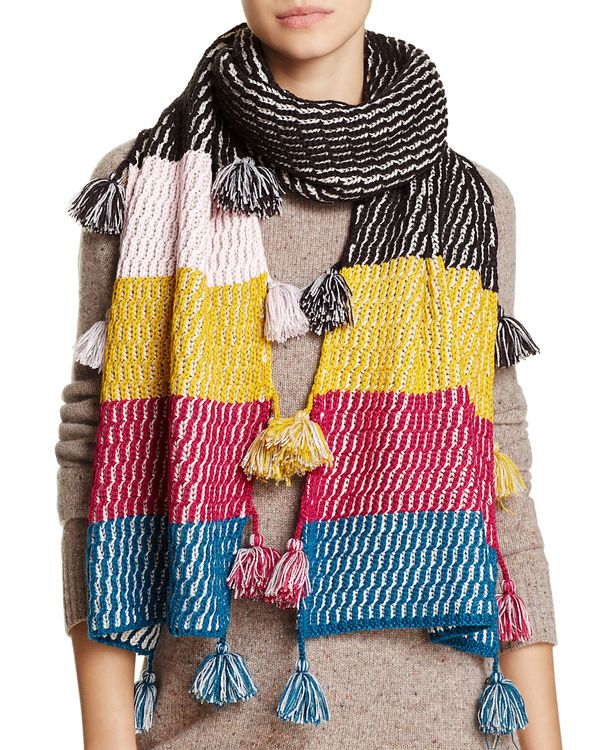 Striped Tassel Scarf - 100% Exclusive