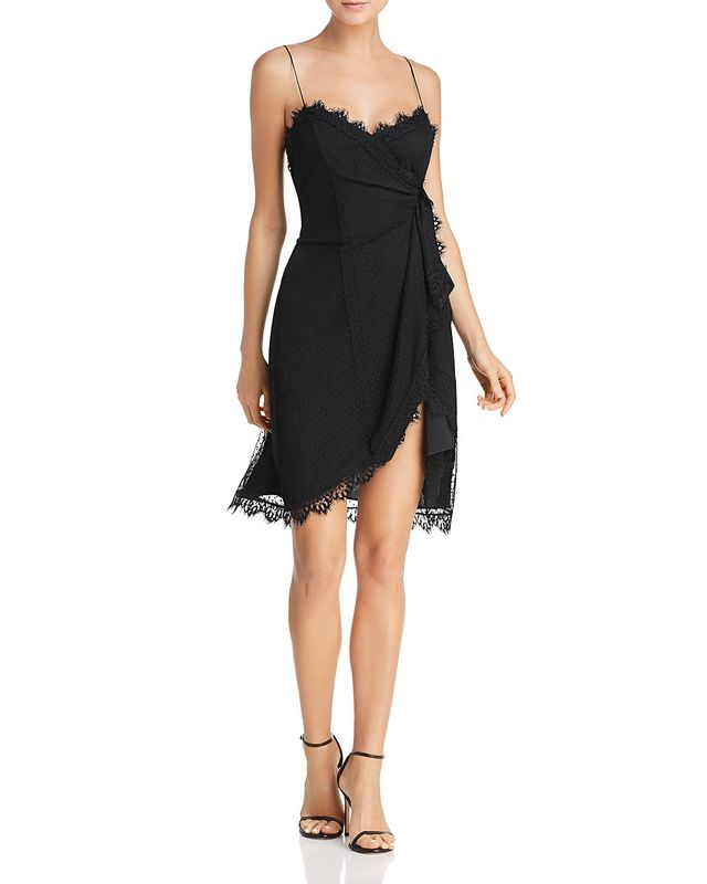 Likely Fallon Lace-Trimmed Crossover Dress