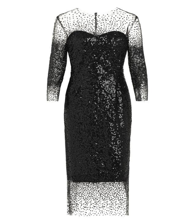 Monique Lhuillier Sequin Sheath Dress