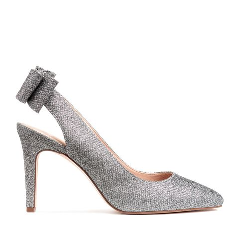 Glittery Pumps With Bow