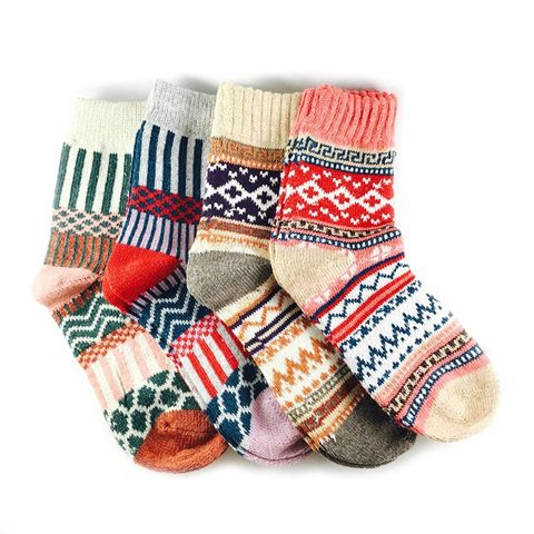 Multicolor Fashion Warm Wool Cotton Thick Winter Crew Socks