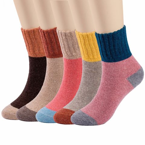 Vintage Style Winter Thick Knit Warm Casual Wool Crew Socks