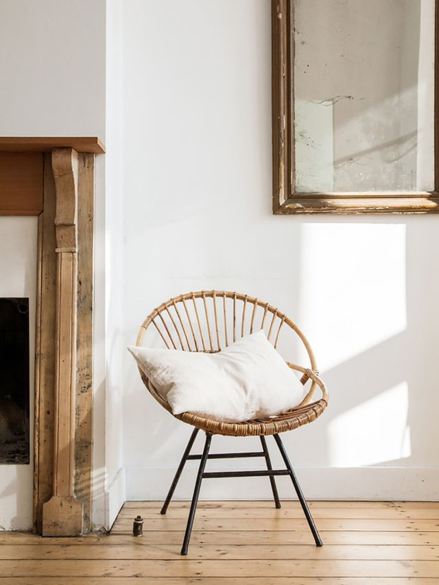 Rattan Chair Styled in Living Room