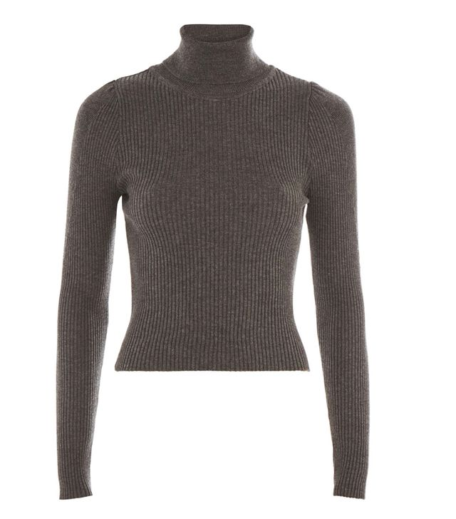 Topshop Puff Sleeve Roll Neck Jumper