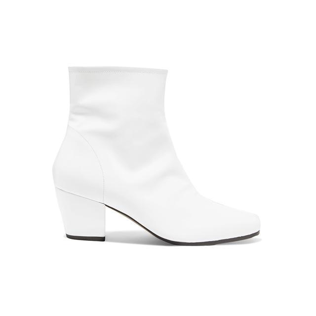 ALEXACHUNG Beatnik Patent Leather Ankle Boots