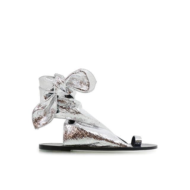 Isabel Marant Maheo Silver Sandals