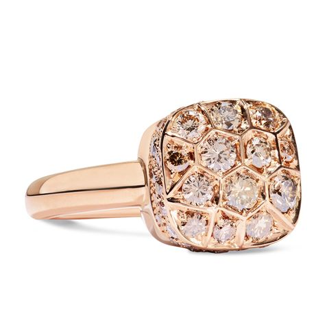 Nudo Solitaire 18-Karat Rose Gold Diamond Ring
