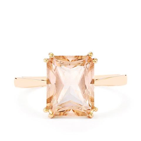 Topaz Ring in 9K Rose Gold
