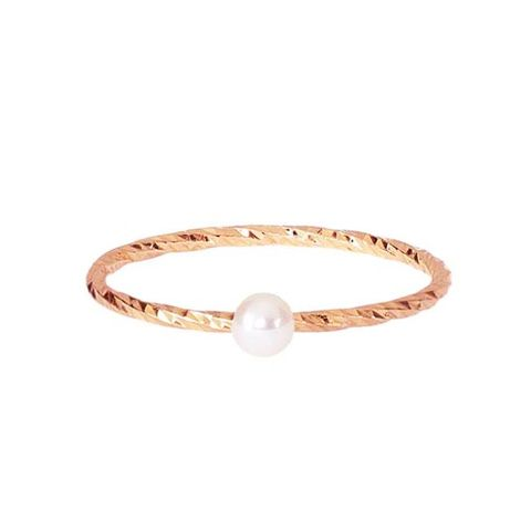Lunar White Mini Pearl Ring Sparkling Band