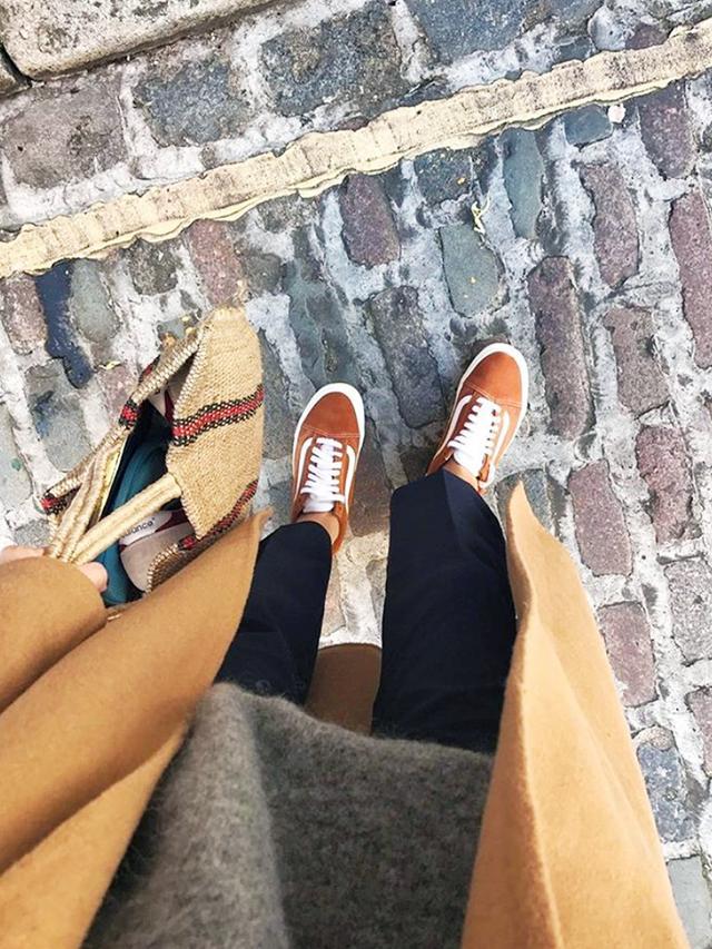 Orange Vans Old Skool