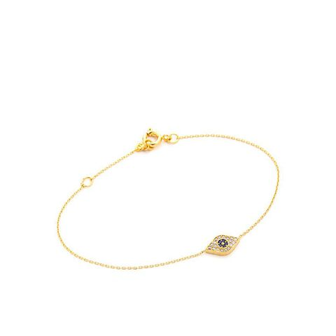 Chain Bracelet with Evil Eye