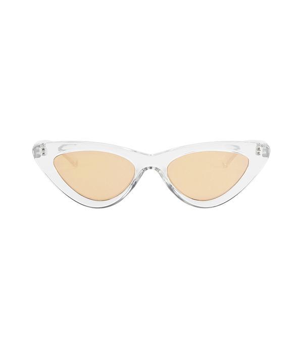 Le Specs Luxe The Last Lolita Cat Eye Sunglasses Clear 1SIZE