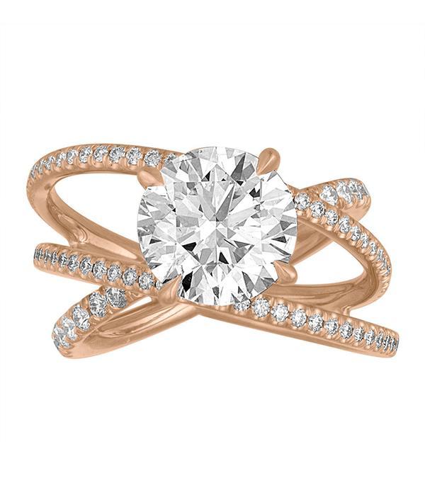 Stephanie Gottlieb Criss Cross Engagement Ring