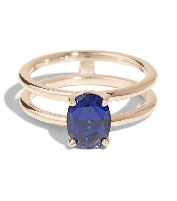 Bario Neal Custom Double Band Sapphire Ring