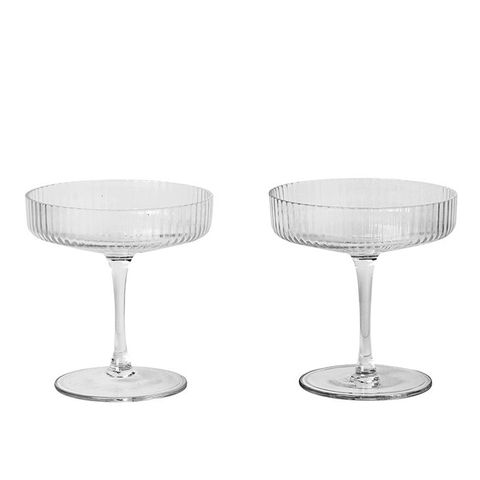 Ripple Champagne Coupes
