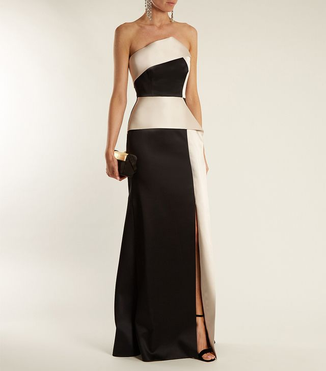 Addover double-faced satin gown