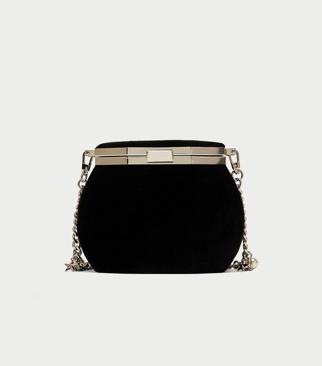 Zara Crossbody Bag With Clasp and Charm Strap