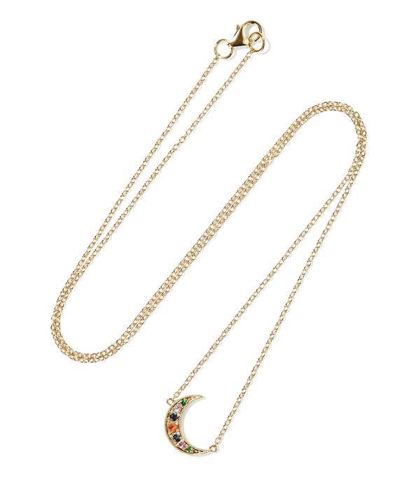 Mini Crescent 14-karat Gold