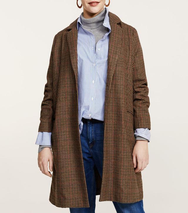 Micro houndstooth coat