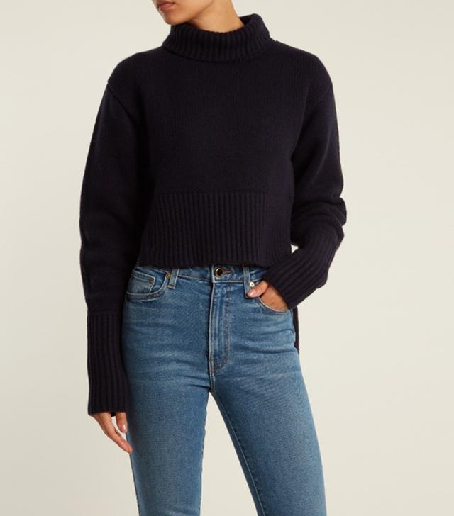 Jeraldine step-hem roll-neck cashmere sweater
