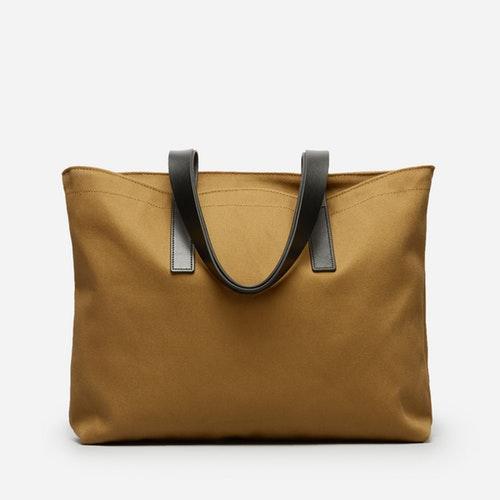 Women's Twill Zip Tote Bag by Everlane in Ochre