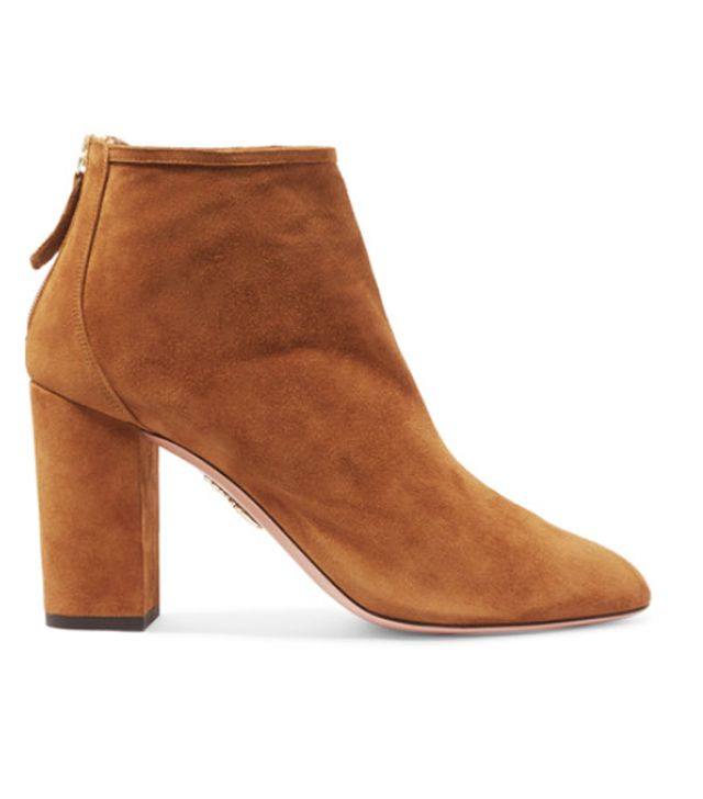 Brown ankle boots: