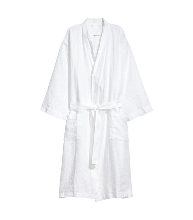 H&M Washed Linen Bathrobe