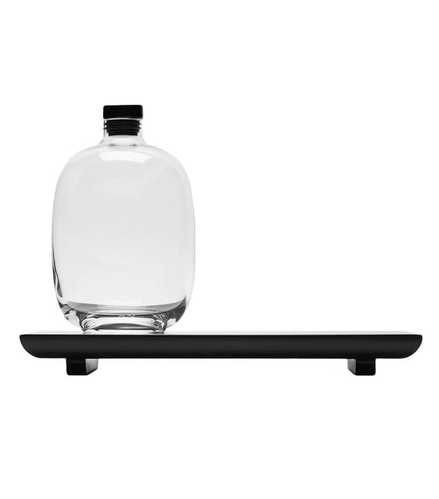 Nude Whiskey Decanter and Black Serving Tray