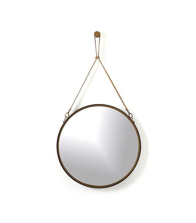 CB2 Victor Leather Mirror