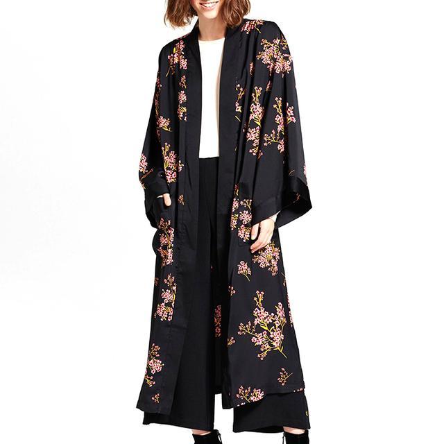 Who What Wear Silky Robe Coat