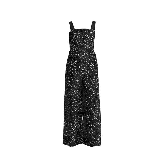 Printed Cotton And Silk-blend Jumpsuit