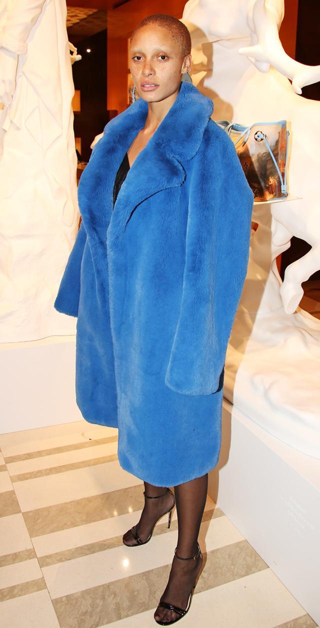 Adwoa Aboah fur coat