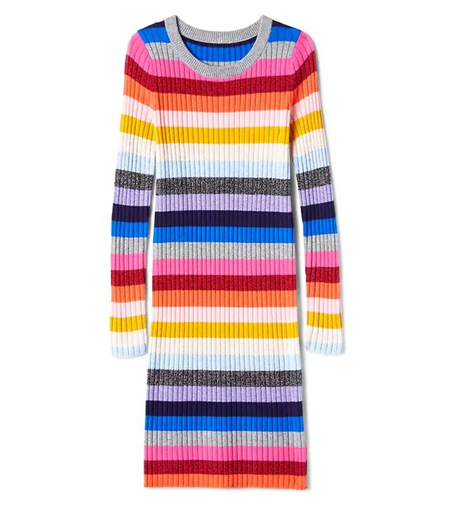Gap Crazy Stripe Wool Blend Dress