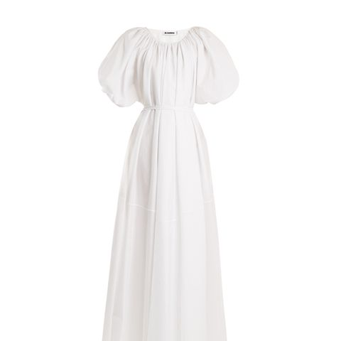 Equality Tie-Waist Cotton Dress