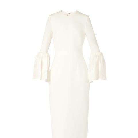 Margot Bell-Sleeved Cady Dress