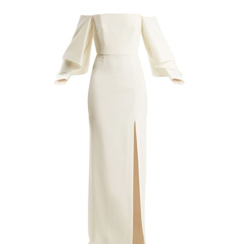 Octon Off-the-Shoulder Crepe Gown