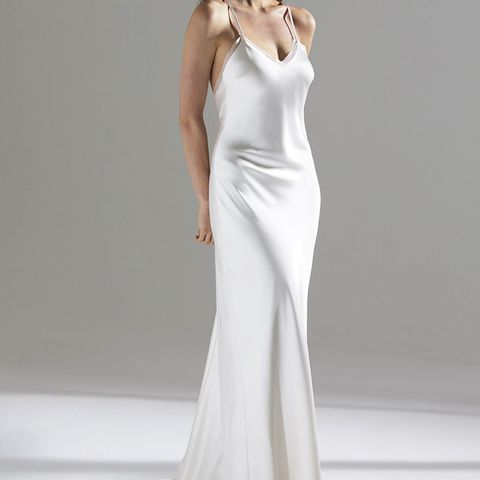 Luella Organza-Trimmed Satin Gown