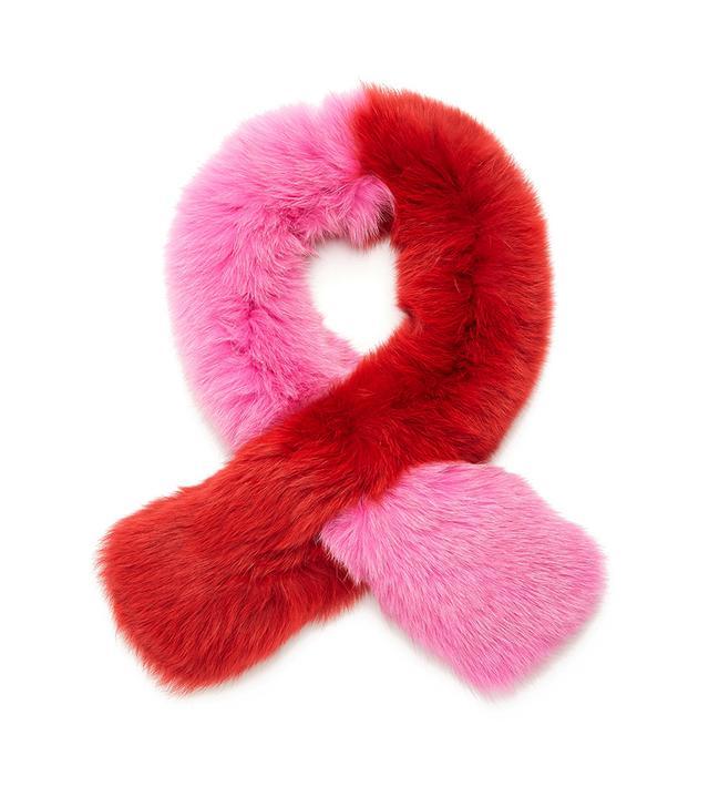 Pollypop fox-fur scarf