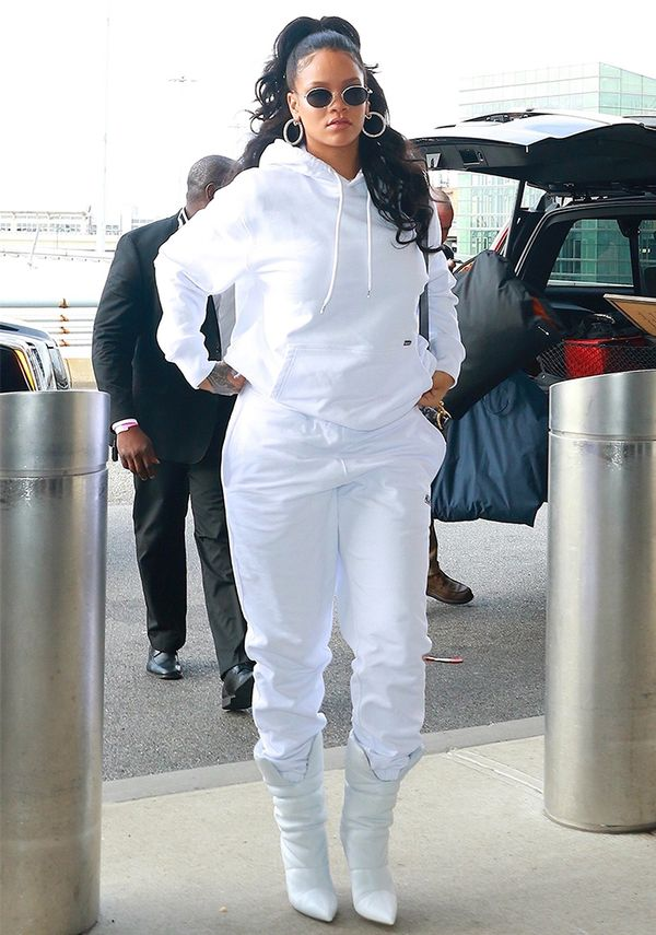 Rihanna all-white outfit