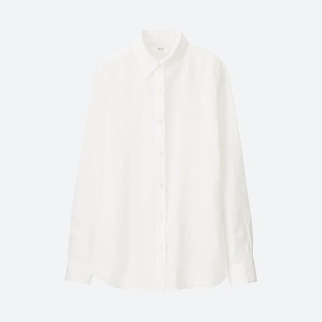 Uniqlo Womens Premium Long Sleeve Shirt