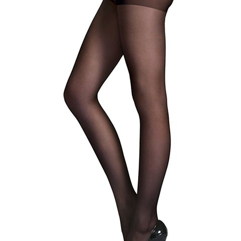 Reinforced Toe Semi Sheer Opaque Tights Panty Hose