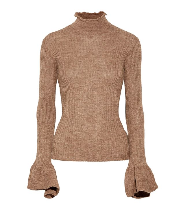Raine Cutout Ribbed Alpaca And Wool-blend Turtleneck Sweater